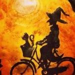 wictch on a bike